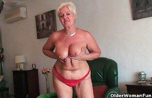 الجدة السمين مع كبير الثدي و السمين الحمار