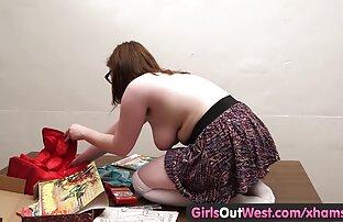 الفتيات خارج الغرب - السمين اللعب لطيف الهواة انتزاع شعرها