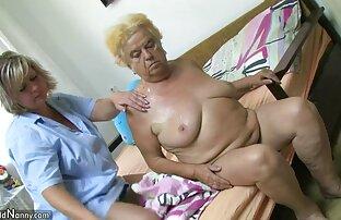 امرأة ناضجة مع الجدة السمين في.