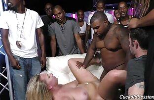 زوجة بيضاء استغل من قبل السود في النادي أمام الزوج.