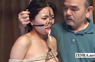 المتطرفة اليابانية BDSM هوك الأنف والمشابك مع مترجمة