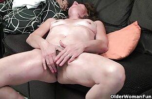 سيدة عجوز مشعر إصبع فيديو مثير صور